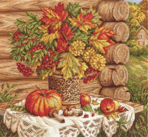 """Вышивка крестом """"Осенний натюрморт"""" (350х310 мм) — фото, картинка"""
