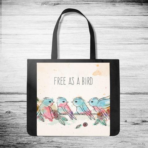 "Сумка-шоппер ""Free as a bird"" — фото, картинка"