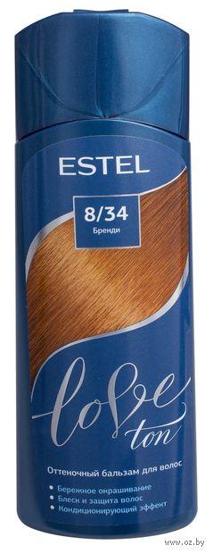 """Оттеночный бальзам для волос """"Love Ton"""" тон: 8/34, бренди (150 мл) — фото, картинка"""