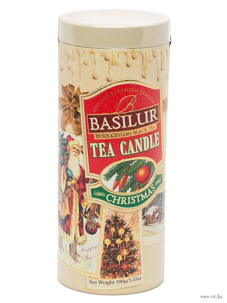 """Чай черный листовой """"Basilur. Рождественская свеча"""" (100 г; в банке) — фото, картинка"""