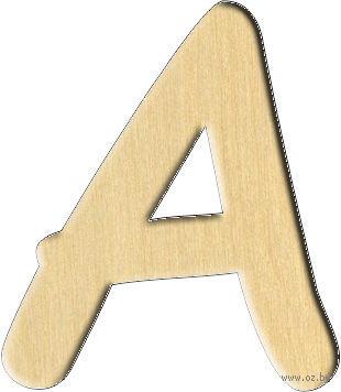 """Заготовка деревянная """"Английский алфавит. Буква A"""" (26х30 мм)"""