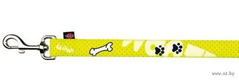 "Поводок для собак ""Modern Art Woof"" (размер XS-S; 120 см; желтый)"