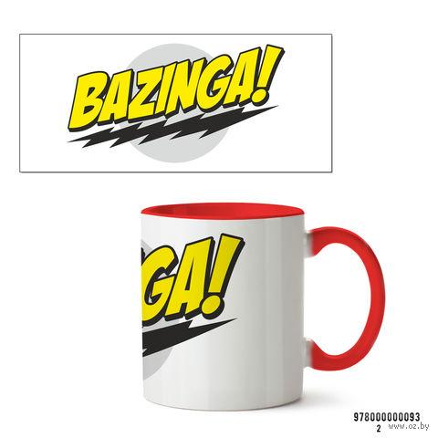 """Кружка """"Bazinga. Теория большого взрыва"""" (красная) — фото, картинка"""