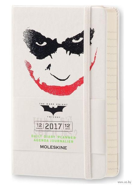 """Ежедневник Молескин """"Batman"""" на 2017 год (карманный; твердая белая обложка)"""