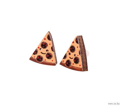 """Серьги """"Пицца"""" (арт. 319-1) — фото, картинка"""