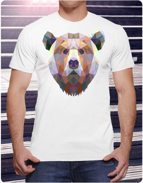 "Футболка мужская ""Медведь"" (размер 52; арт. 10) — фото, картинка"
