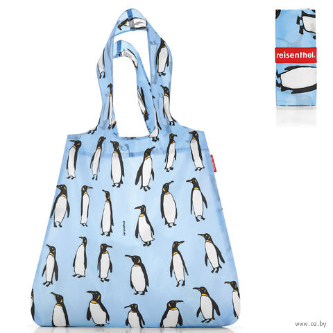 "Сумка складная ""Mini maxi shopper"" (penguins blue)"
