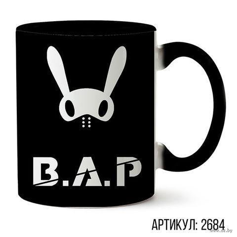 """Кружка """"B.A.P."""" (черная; арт. 2684) — фото, картинка"""
