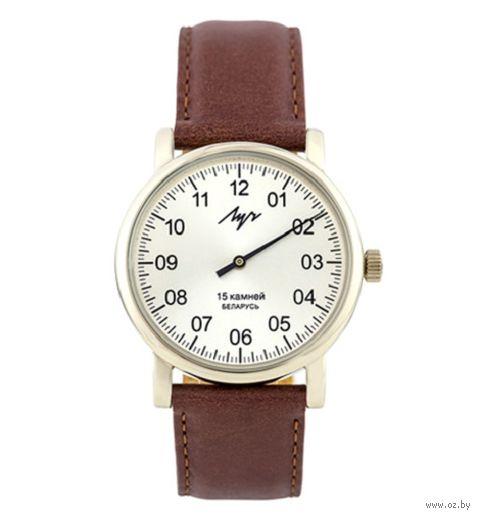 """Часы наручные """"Однострелочник"""" (коричневые; арт. 377477761) — фото, картинка"""