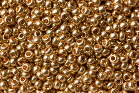 Бисер №18184 (золотой; металлик; 10/0) — фото, картинка