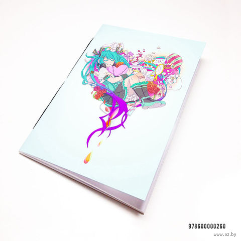 "Блокнот белый ""Хацуне Мику"" А7 (260)"