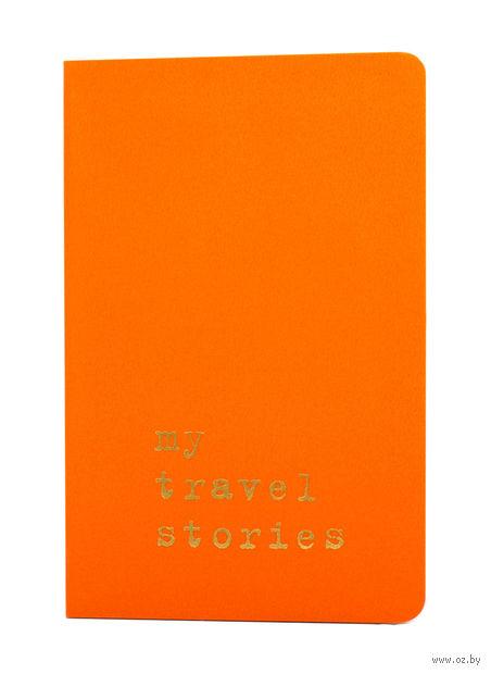 """Записная книжка Молескин """"Volant. My Travel Stories"""" нелинованная (карманная; мягкая оранжевая обложка)"""