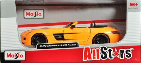 """Модель машины """"Mercedes Benz SLS AMG Roadster"""" (масштаб: 1/24) — фото, картинка"""