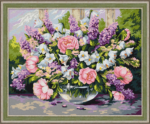 "Картина по номерам ""Садовый букет"" (400х500 мм) — фото, картинка"