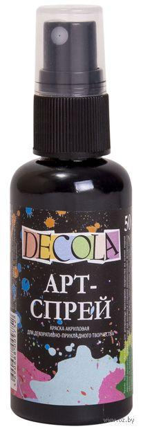"""Краска-спрей """"Decola"""" (черная; 50 мл) — фото, картинка"""