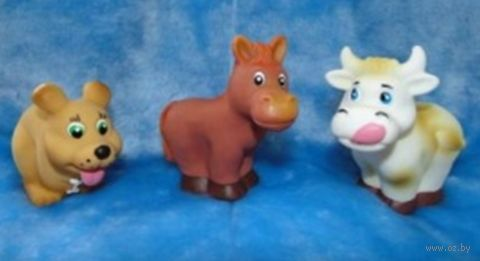 """Набор игрушек для купания """"Домашние животные"""" (3 шт.) — фото, картинка"""