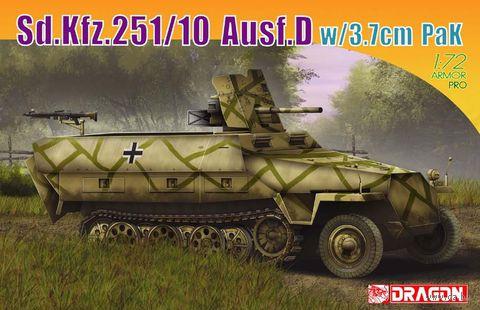 "Немецкий бронетранспортер ""Sd.Kfz.251/10 Ausf.D w/3.7cm"" (масштаб: 1/72) — фото, картинка"