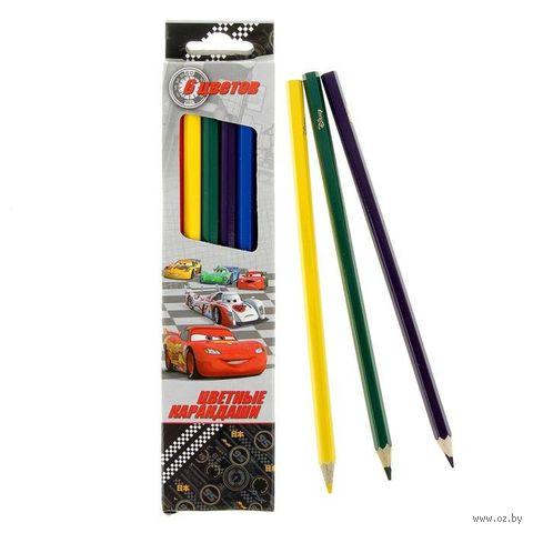 """Набор карандашей цветных """"Disney. Тачки"""" (6 цветов)"""