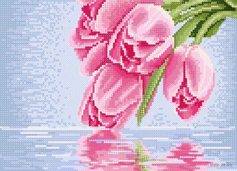 "Алмазная вышивка-мозаика ""Розовые тюльпаны"" (360х260 мм) — фото, картинка"