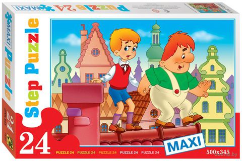 "Пазл maxi ""Малыш и Карлсон. Опасная прогулка"" (24 элемента) — фото, картинка"
