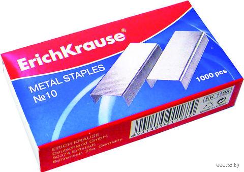Скобы №10 для степлера (стальные никелированные)