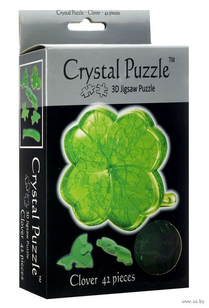 "Пазл-головоломка ""Crystal Puzzle. Клевер"" (42 элемента)"