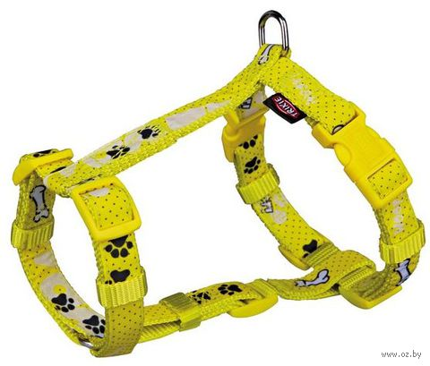 "Шлея для собак ""Modern Art H-Harness Woof"" (размер XXS-XS; 25-35 см; желтый)"