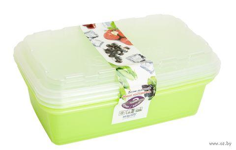 "Набор контейнеров для заморозки ""Zip"" (3 шт.; киви) — фото, картинка"