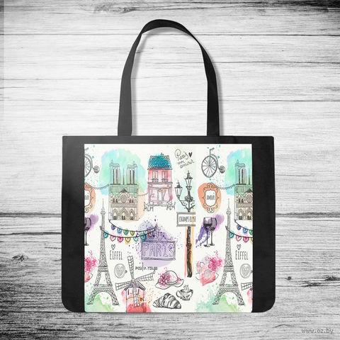 """Сумка-шоппер """"Париж"""" (арт. 3) — фото, картинка"""