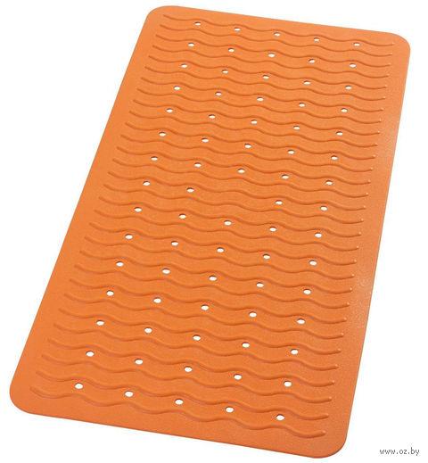 """Коврик для ванной резиновый """"Волна"""" (38х80 см; оранжевый) — фото, картинка"""