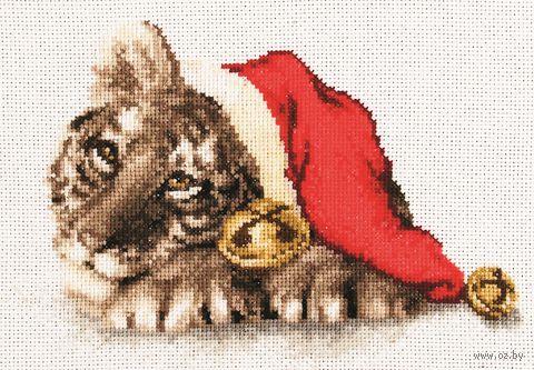 """Вышивка крестом """"Новогодний тигр"""" (200х130 мм) — фото, картинка"""