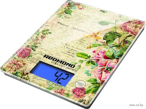 Кухонные весы Redmond RS-736 (цветы) — фото, картинка