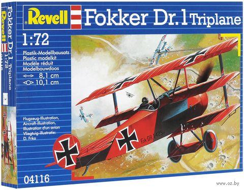 "Сборная модель ""Самолет Fokker Dr. 1 Triplane"" (масштаб: 1/72) — фото, картинка"