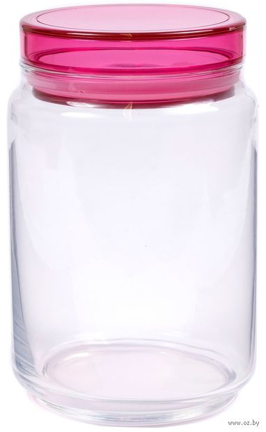 """Банка стеклянная """"Colorlicious Pink"""" (1 л) — фото, картинка"""