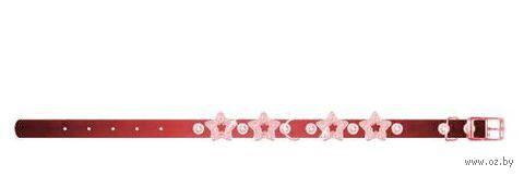 """Ошейник """"Collar brilliance"""" с украшением для щенков и собак мелких пород (22-30 см, красный, арт. 38613)"""