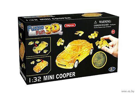 """Пазл """"3D Puzzle. Mini Cooper полупрозрачный желтый"""" (64 элемент)"""