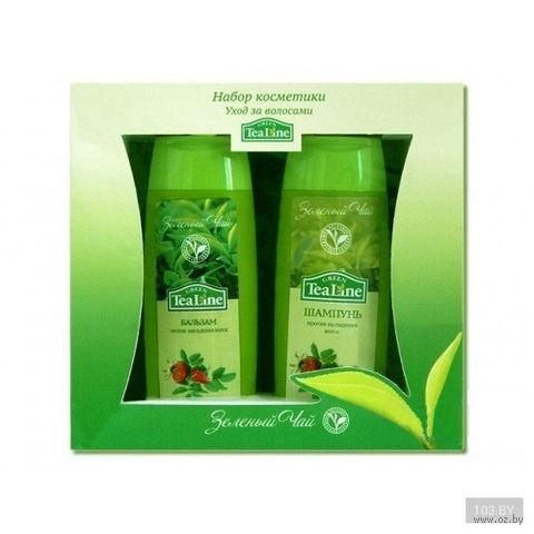 """Подарочный набор """"Зеленый чай. Уход за волосами"""" (шампунь, бальзам)"""