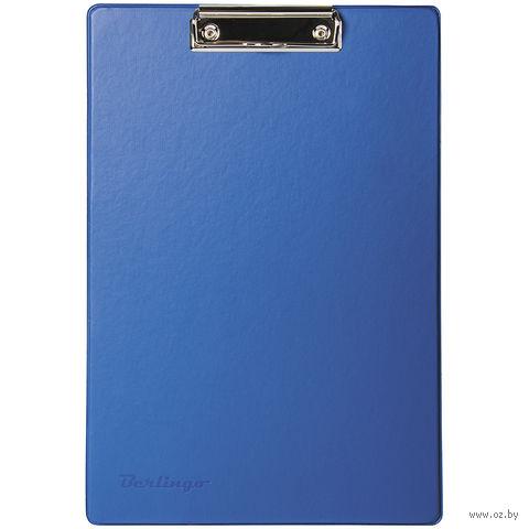 Планшет А4 с зажимом (синий)