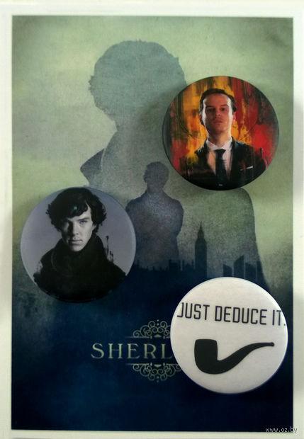 """Набор значков маленьких """"Шерлок"""" (арт. 352) — фото, картинка"""