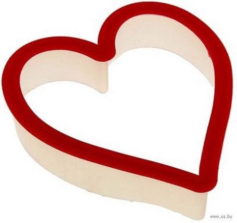 """Форма для вырезания теста пластмассовая """"Сердце"""" (110х90х25 мм) — фото, картинка"""