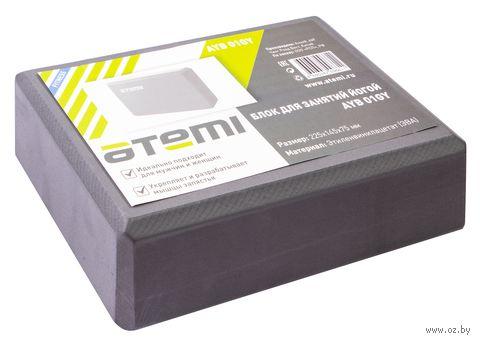Блок для йоги (серый; арт. AYB-01 grey) — фото, картинка