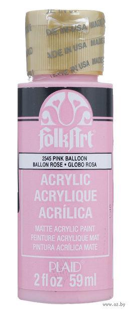 """Краска акриловая """"FolkArt. Acrylic Paint"""" (розовый воздушный шарик; 59 мл; арт. PLD-02545) — фото, картинка"""