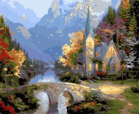 """Картина по номерам """"Средневековая церковь"""" (400х500 мм) — фото, картинка"""