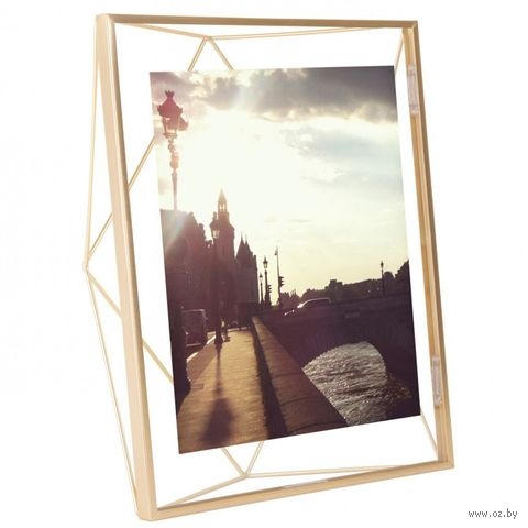 """Рамка металлическая """"Prisma"""" (20х25 см; золотистая) — фото, картинка"""