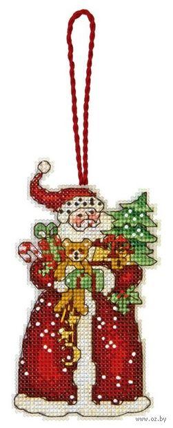 """Вышивка крестом """"Санта"""" (120х64 мм) — фото, картинка"""