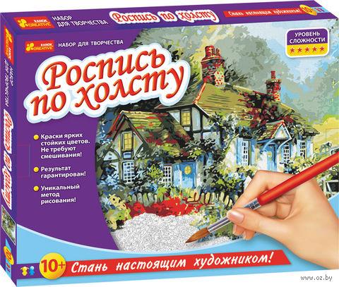 "Картина по номерам ""Домик в саду"""