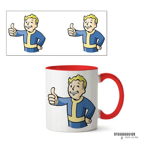"""Кружка """"Пип-бой из Fallout"""" (109, красная)"""
