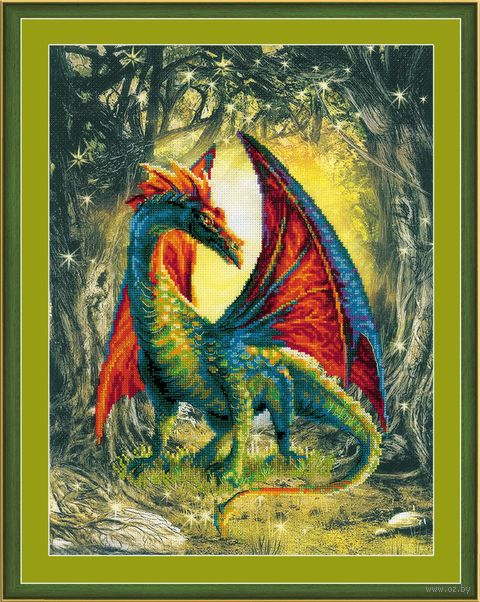 """Вышивка крестом """"Лесной дракон"""""""