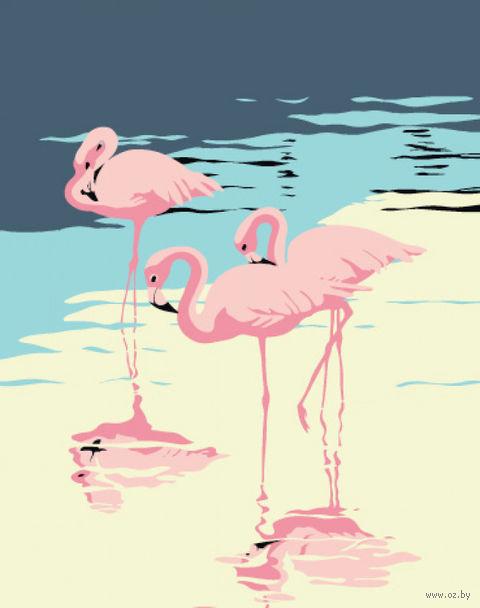 """Картина по номерам """"Три фламинго"""" (165х130 мм) — фото, картинка"""
