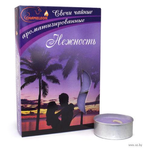 """Набор свечей ароматизированных в металлической гильзе """"Нежность"""" (6 шт.) — фото, картинка"""